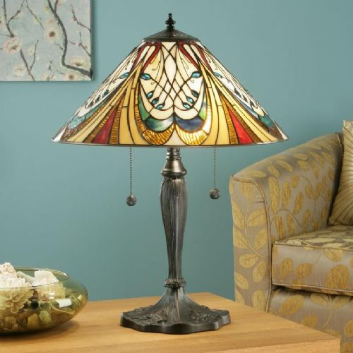 Hector Table Lamp (Art Nouveau, Medium Table Lamp) T13T (Tiffany style)